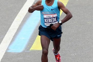 Ethiopia's Tsegaye Kebede is running all the way to the bank with $560,000 prize money
