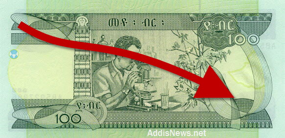 Image result for devaluation of ethiopian money