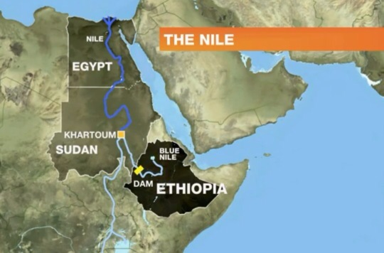 Nile dam Ethiopia Sudan and Egypt