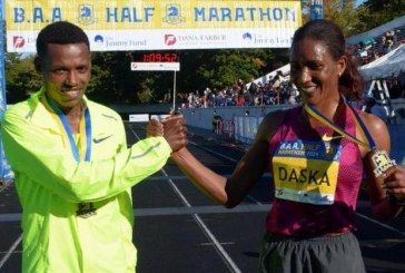 Mamitu Daska and Lelisa Desisa of Ethiopia win Boston Half Marathon