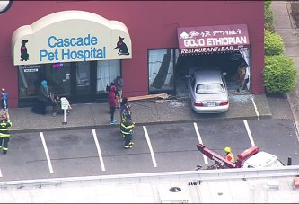 A Car Crashed Into An Ethiopian Restaurant Injured One