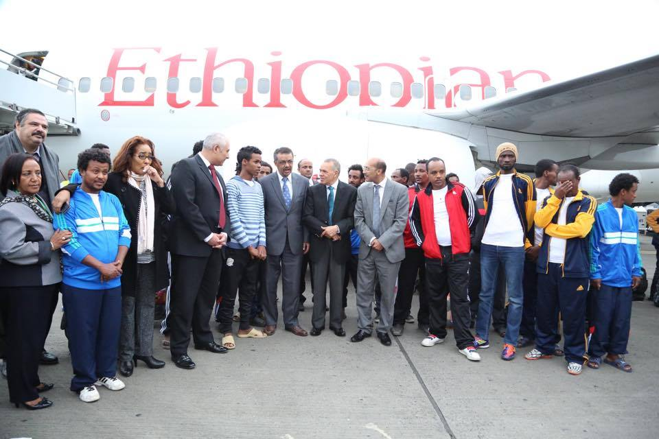 There are different versions of how the 35 Ethiopians were freed and who was holding them