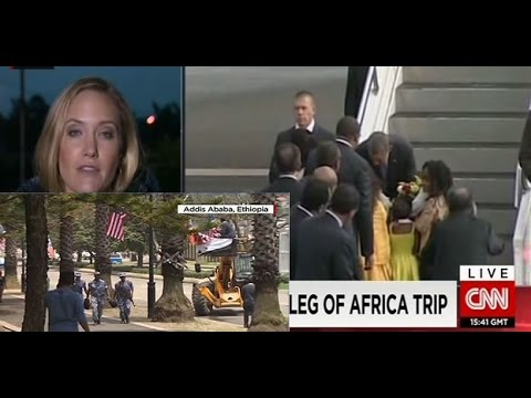 US President Barack Obama arrives in Addis Ababa