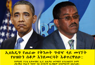 Ethiopian Opposition Leader Don't Want to Sit for Dinner with Obama