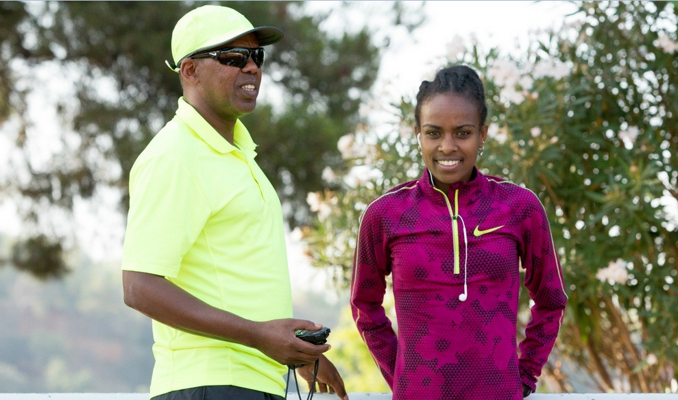 Jama Aden and Genzebe Dibaba