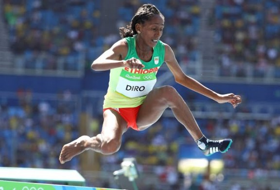 Ethiopia's Etenesh Diro  Runs With 1 Shoe, Advances to Final