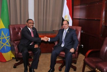 Egypt's President Sisi to meet with Ethiopian PM in Addis Ababa