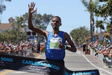 Ethiopian makes it five victories at Carlsbad 5000