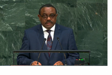 Ethiopia PM Hailemariam Desalegn Addresses UN General Assembly 72nd Session – Video
