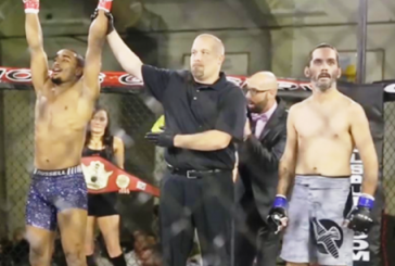 Fighter Afrem Gebremichael becomes first ever Ethiopian to win a sanctioned MMA championship title belt in Huron, South Dakota