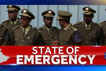 ETHIOPIA TO DECLARE THREE MONTHS STATE OF EMERGENCY AS OF TODAY