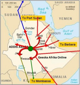 Ethiopia: inter-state highway network strategy to connect maritime ports