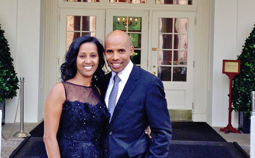 Athlete Meb Keflezighi Has Dinner at the White House