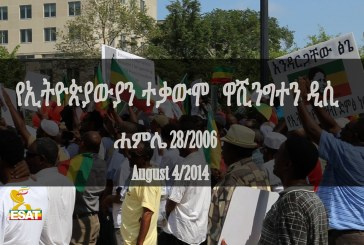 Ethiopians Demonstration in DC Aug 04 2014 - ESAT Special Program