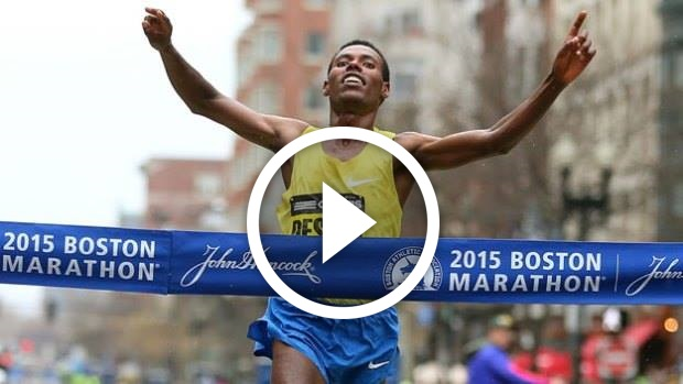 Ethiopian Lelisa Desisa  Won 119th Boston Marathon - VIDEO