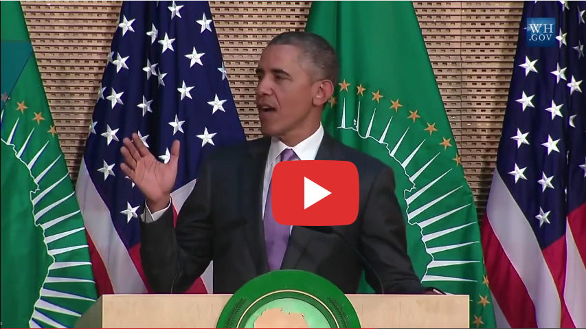 Watch President Obama Speech at the African Union - Video