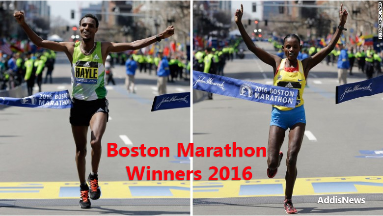 Ethiopian Runners Sweep Boston Marathon - CNN