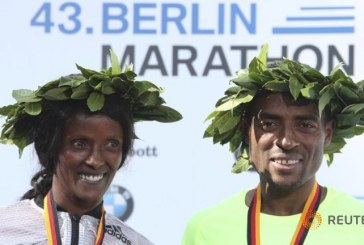 Ethiopians Sweep wins Berlin marathon by Kenenisa and Aberu Kebede