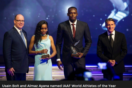 Ethiopian Almaz Ayana and Bolt Win IAAF Athlete of The Year Awards