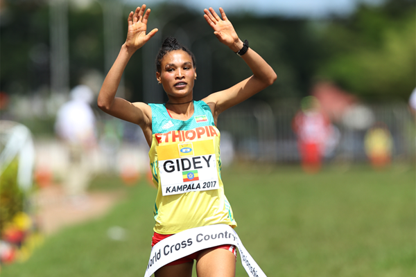 Ethiopia's Letesenbet Gidey cruises to second straight women's U20 title – IAAF World Cross Country Championships Kampala 2017
