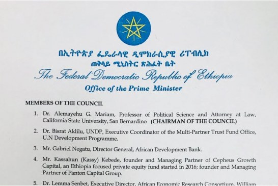 PM Abiy Ahmed Formed Ethiopian Diaspora Trust Fund Advisory Council