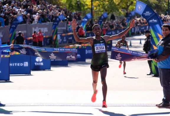 Ethiopian Lelisa Desisa Wins Men's Title at the 2018 New York City Marathon