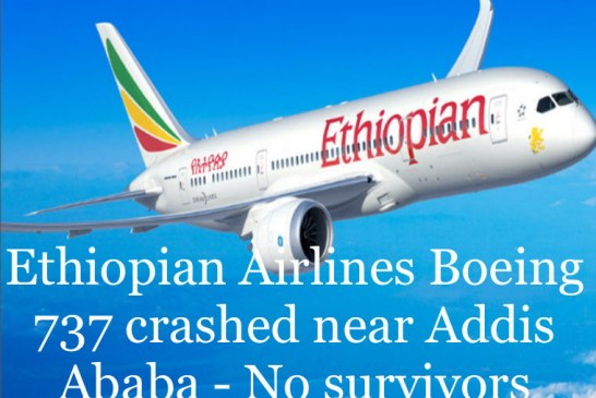 Ethiopian Airlines Boeing 737 crashed near Addis Ababa – No survivors