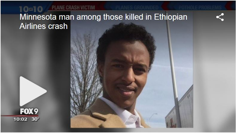 Minnesota man among those killed in Ethiopian Airlines crash